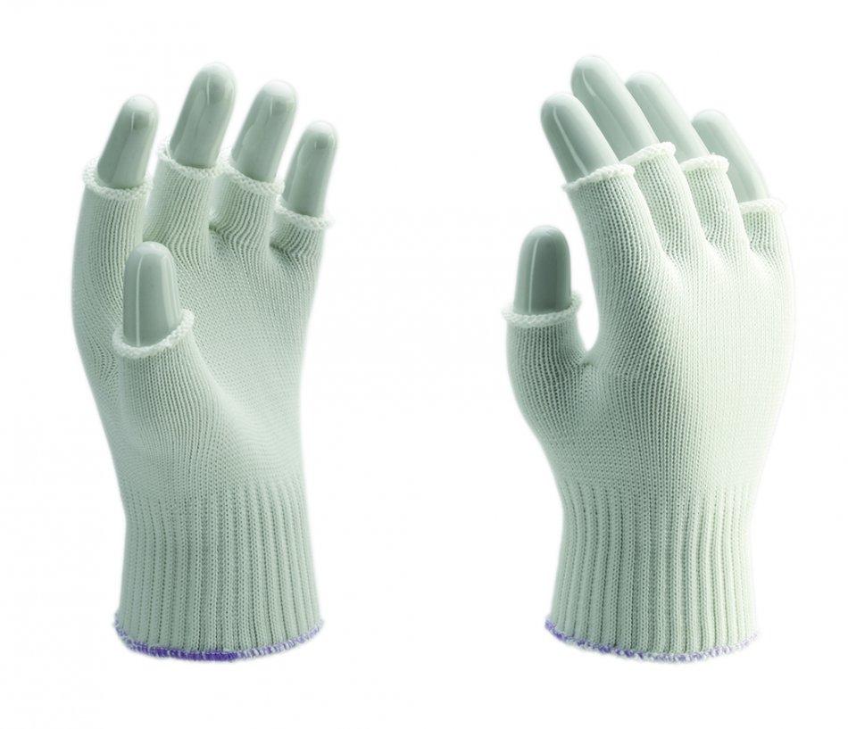 Manusi tricotate din fibre sintetice cu degete decupate