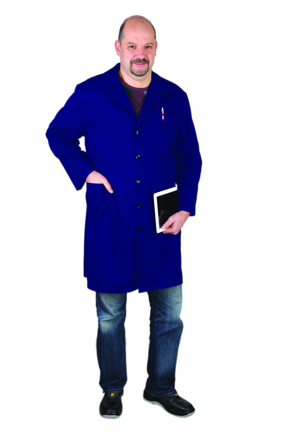 Halat bărbătesc cu mânecă lungă, albastru, KOPF-K/XL