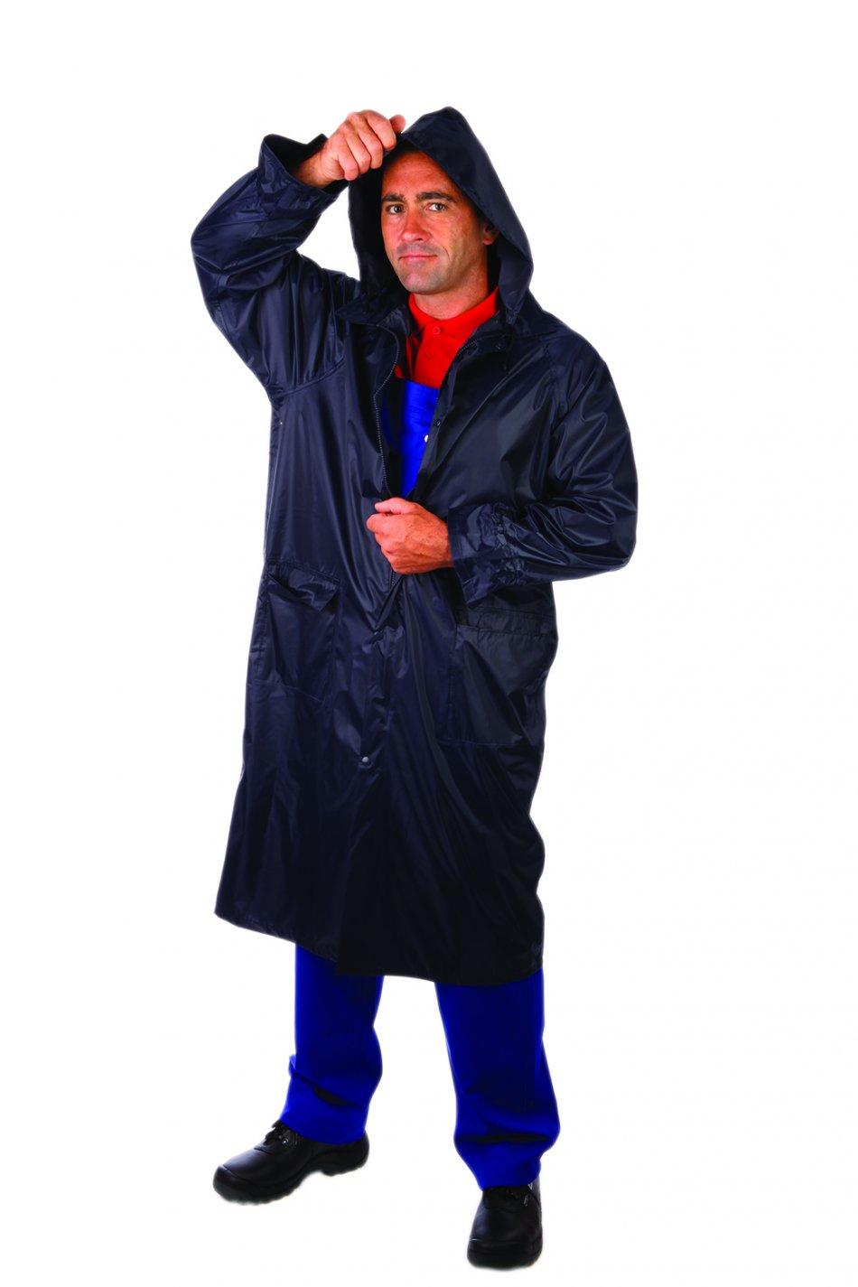 Pelerina de ploaie din poliester/PVC, albastru, lungă