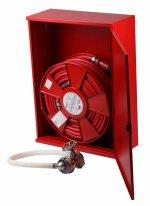Cutie hidrant înălțată LUX-AD25 echipată cu furtun semirigid DN25