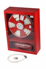 Cutii hidranți standard LUX-AD25 cu locaș pt. stingător dedesubt