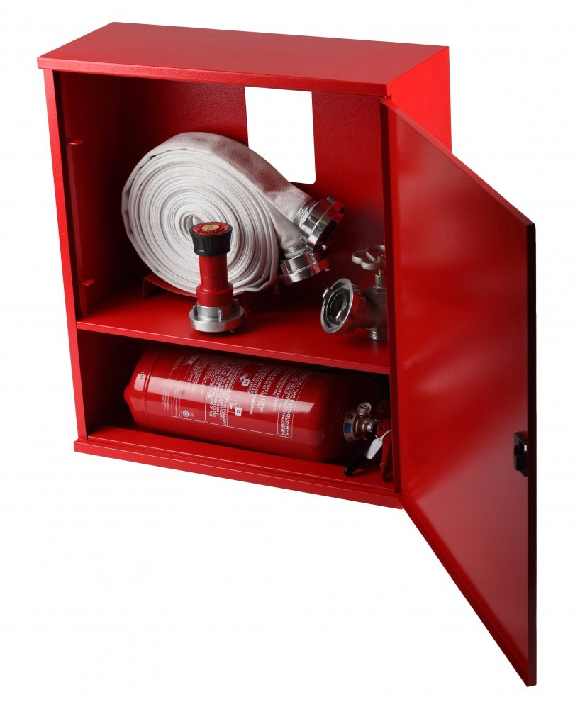 Cutie hidrant LUXLCK 650x735x250mm cu locaș pt. stingător dedesubt 01