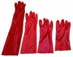 Manusi imersate in PVC rosu 27cm