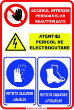 ACCESUL INTERZIS PERSOANELOR NEAUTORIZATE ATENTIE PERICOL DE ELECTROCUTARE