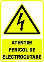 ATENȚIE! PERICOL DE ELECTROCUTARE