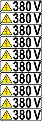 380V SET 10 BUC ETICHETE AUTOCOLANT