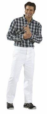 pantaloni alb, 100% bumbac