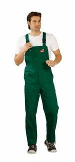 Pantaloni cu pieptar BW270 verzi, 100% bumbac