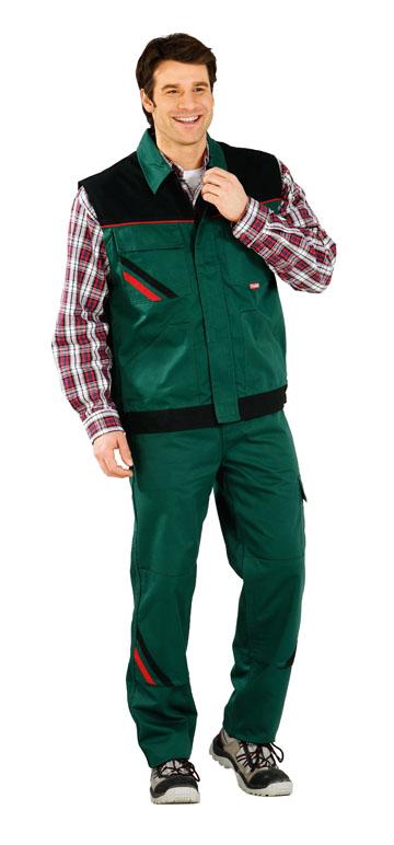 Vesta de inalta calitate ,  verde / negru / roșu 65% PES 35% bumbac