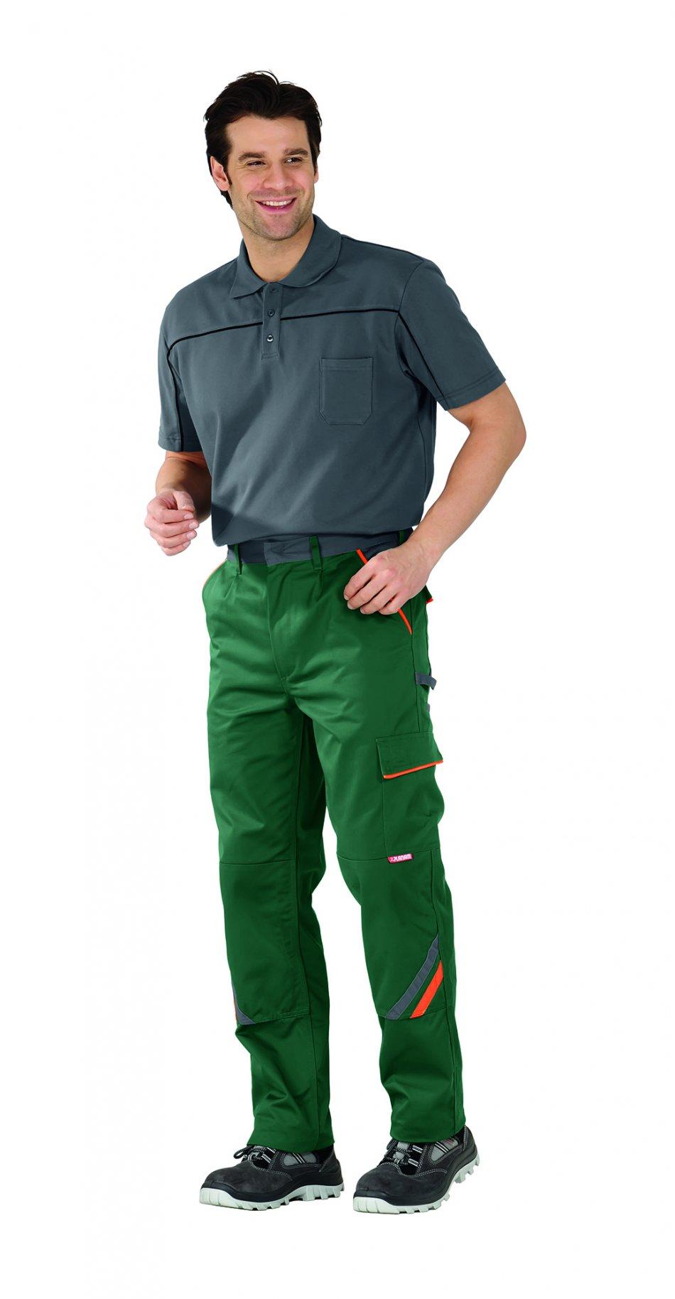 Pantaloni de visline verde / portocaliu, 38-70