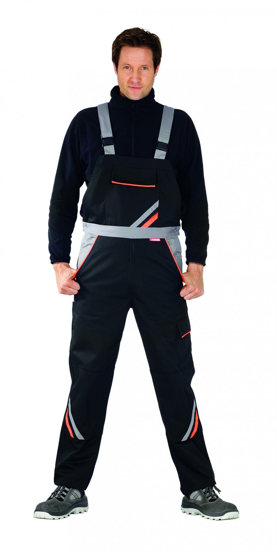 Pantaloni de visline, negru / portocaliu -56
