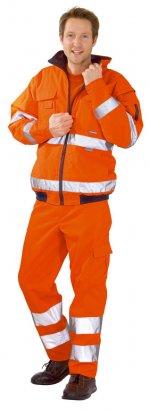 Jachetă de iarnă mare vizibilă portocalie
