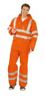 Jachetă de ploaie cu vizibilitate ridicată, portocaliu
