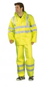 Jachetă de ploaie cu vizibilitate ridicată, galben