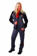 Jacheta pentru femei gri / negru, 65% PES - 35% bumbac, 34-54