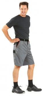 pantalon scurt / negru, 65% PES - 35% bumbac, XS-4XL