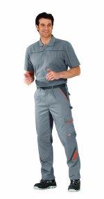 Pantaloni de visline gri / portocaliu -56