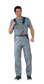 Pantaloni cu pieptar Visline gri/portocaliu -56