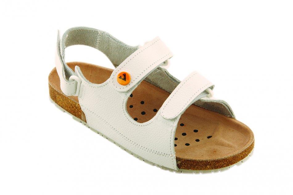 """Papuci ESD cu bandă pentru călcâi și fixare tip """"Velcro"""" (categoria OB ESD)"""