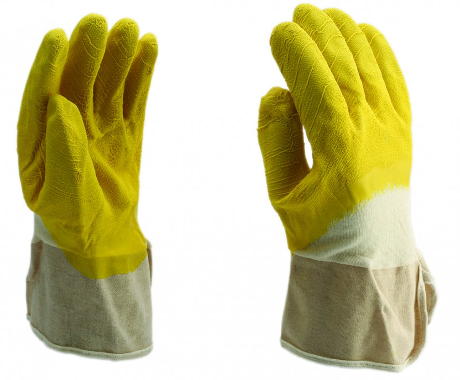 Mănuşi imersate latex galben