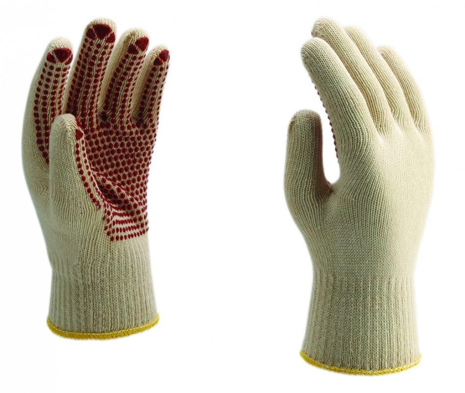 Mănuşi punctate tricotate din fire de aţă