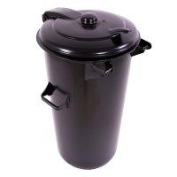Europubelă 110 L rotund negru reciclat