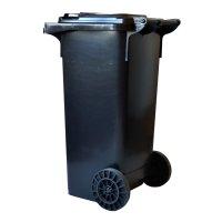 Europubelă 120 L negru reciclat-EN840