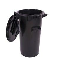 Europubelă 50 L rotund negru reciclat