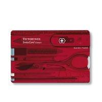 Briceag-0.7100.T- SwissCard Roșu transparent