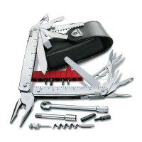 Briceag-3.0339.L- SwissTool X PLUS RATCHET Argintiu + husă piele negru