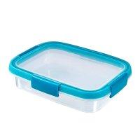Cutie alimente drept 0.7 L-SMART FRESH-00924-284-Transparent/Albastru