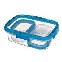 Cutie alimente drept 2x0.2+1x1.0 L-SMART FRESH-00992-284-Transparent/Albastru