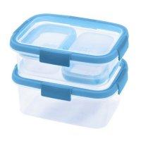 Cutie alimente drept 2x0.2+1x1.0+1x1.2 L-SMART FRESH-00994-284-Transparent/Albastru