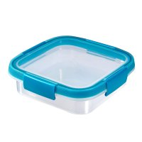 Cutie alimente pătrat 0.6 L-SMART FRESH-00926-284-Transparent/Albastru