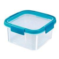 Cutie alimente pătrat 1.1 L-SMART FRESH-00938-284-Transparent/Albastru