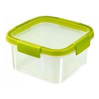 Cutie alimente pătrat 1.1 L-SMART FRESH-00938-B49-Transparent/Verde