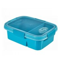 Cutie alimente drept doua compartimente 0.3+0.6-SMART TO GO-00925-Y33-Albastru