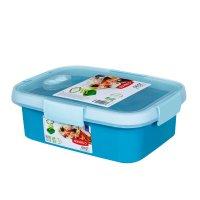 Cutie alimente drept+tacamuri 1 L-SMART TO GO-00946-Y33-Albastru