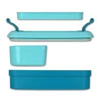 Cutie alimente drept+tacămuri 1.3 L-LUNCH & GO-00768-B36-Albastru/Aqua
