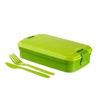 Cutie alimente drept+tacămuri 1.3 L-LUNCH & GO-00768-C52-Verde