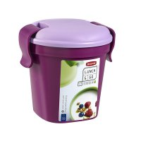 Pahar cu capac S-LUNCH & GO-00739-B35-Violet