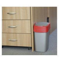 Coș gunoi cap batant drept 10 L-FLIP BIN-02170-547-Antracit/Roșu