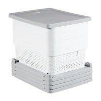 Dulap cu 4 sertare pe roți INFINITY-buline-04356-Y36-Alb