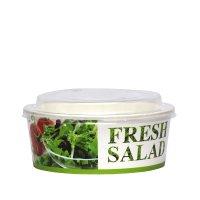 Bol salată carton uf 750 ml cu capac 15x8cm 300/1