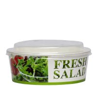 Bol salată carton uf 1250 ml cu capac 19x9cm 100/1