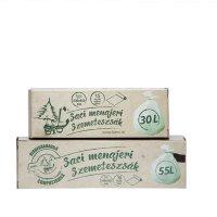 Saci menaj 55L biodegradabil și compostabil în cutie, 70 x 56 cm, 16µ, 10/1