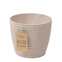 Decor ghiveci MAGNOLIA ECO JERSEY-FI 190 mm 05-Alb-LA858