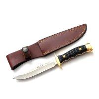 Cuțit vânătoare-4.2242- MUELA 12 cm, toc piele Maro