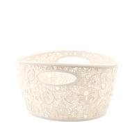 Coș oval VICTORIA mini-02204-885-Alb/Crem