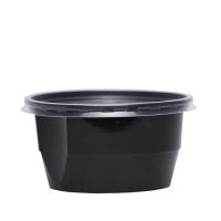 Bol supa negru uf. 560 ml cu capac transparent 50/1